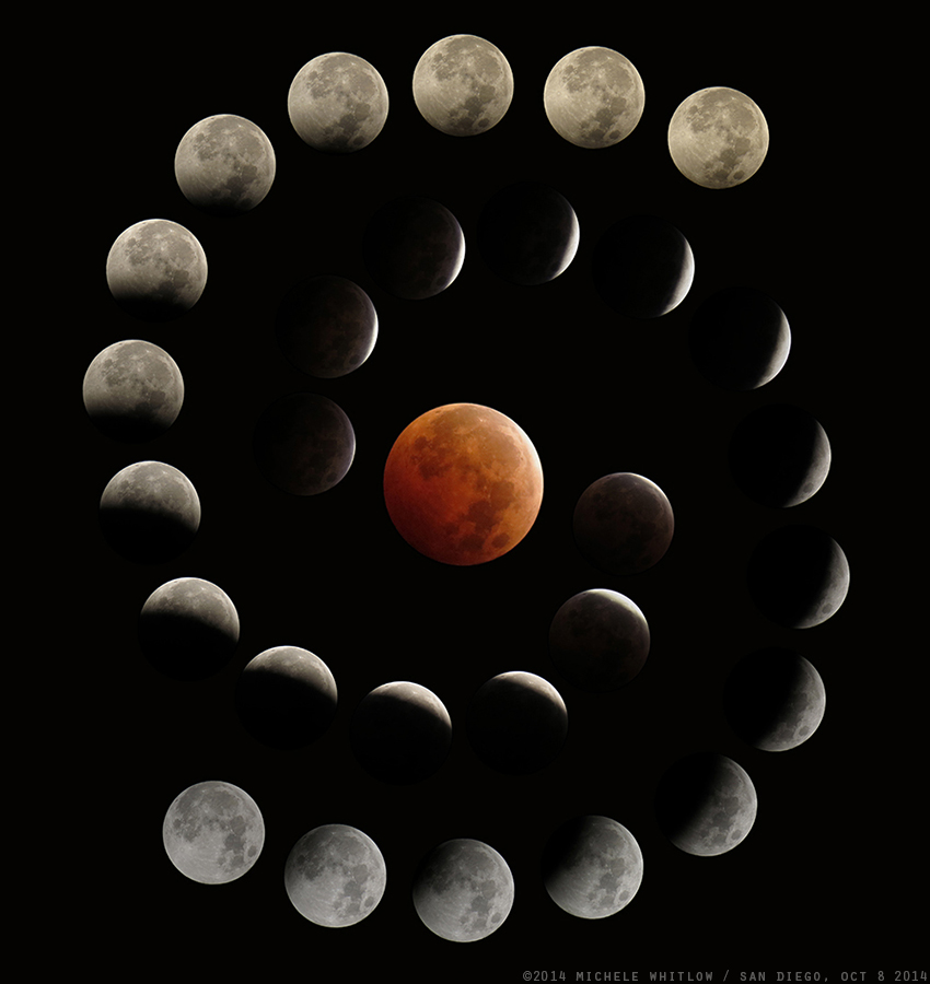 sale retailer 2f58a 12020 The stages of the total lunar eclipse of 8 Oct, 2014  beautifully captured  by Michele Whitlow.